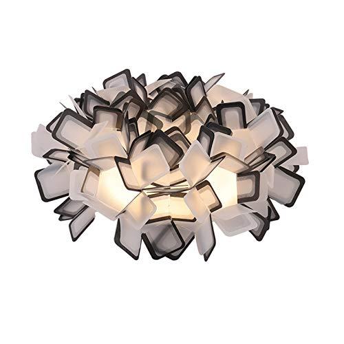 Plafón LED Techo Cálida Luz de Techo Lámpara De Dormitorio Principal Cálido Y Llevó La Lámpara De Techo Redonda Salón Sencilla Lámpara Creativa Moderna Nórdica Romántica Habitación De Los Niños,1