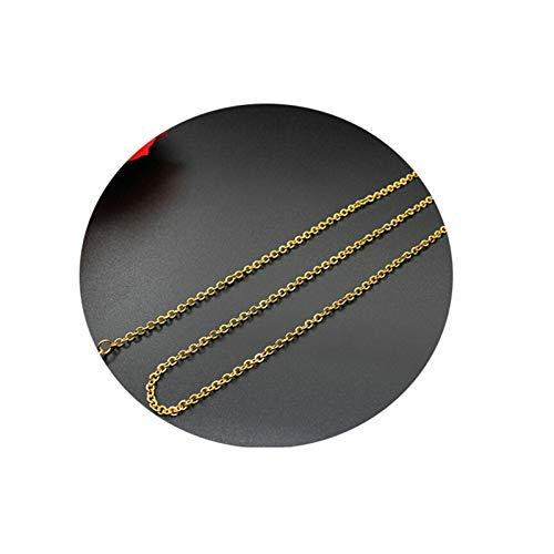 Aeici Collares Mujer Simples Cadena Cable Collares para Mujer Oro Largo 45 Cm