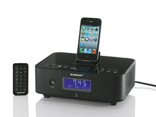 Silvercrest Radiowecker SIUR 10 A1 für iPhone/iPod/iPad mit RDS, schwarz
