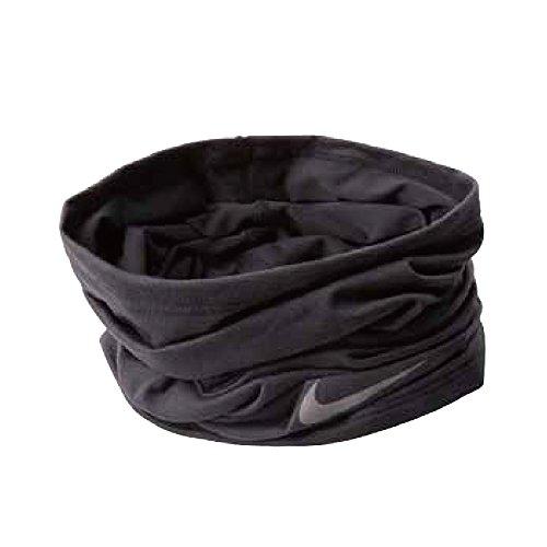 Nike Pañuelo Tubular para Adultos, Color Negro/Plateado, OSFM
