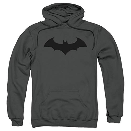 Batman Bat Hush Logo DC Comics Pull-Over Hoodie Sweatshirt & Stickers