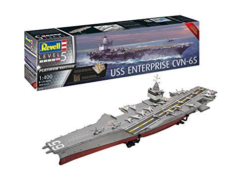 Revell- USS Enterprise CVN-65 Accesorios, Color Plateado (RV05173)