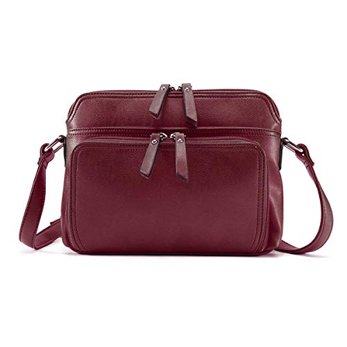✅ Material: PU leather cross body bag with zipper closure,polyester cotton lining; Casual and classic, Stylish Style; with High quality Gold Tone Hardware, Durable and fashionable. ✅ Structure:2 Front Pockets, Main Pocket, 4 Interior Slot Pockets, Ba...
