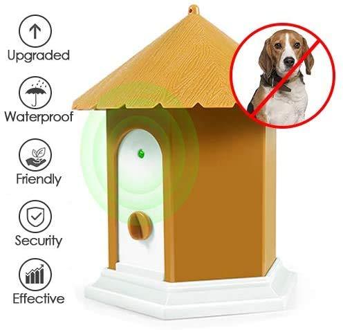 LEIPING Dispositivos Antiladridos,Anti ladrido de Perros, Inhibidor de Ladridos Sónico a Prueba de Agua para Exterior, Artículos de Entrenamiento de Ladrido Perros Seguro y Humano