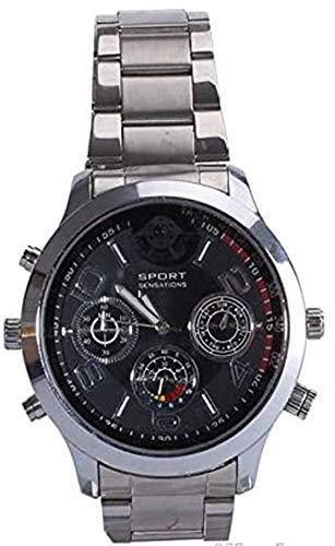 Cyber Express Electronics–Uhr mit Mini-Kamera, Spion 64GB 2K Super Full HD 2304x 1296P Bewegungserkennung DWF-2304-64