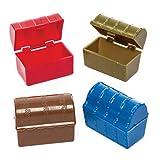 Baker Ross- Minicofres del tesoro en varios colores (Pack de 8) - Perfectos para...