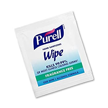 PURELL Hand Sanitizing Wipes Alcohol Formula Fragrance Free 300 Count Individually Wrapped Hand Wipes - 9020-06-EC