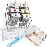 Moldes Polos Helado, Reutilizable Silicona Molde Para Helados Libre de BPA...