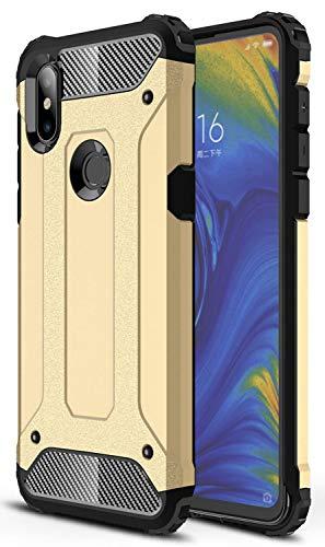 ZDCASE Xiaomi Mi Mix 3 Funda, Antideslizante TPU Suave & Resistente a Rayones PC Duro A Prueba de choques Protectora Funda para Xiaomi Mi Mix 3 - Dorado