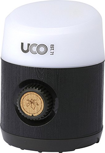 UCO Rhody Plus 130 Lumen Hang-Out Camping Lantern with Rechargeable Li-ion Battery, Infinity Dial Variable Brightness, and Quick-Connect Magnetic Hanging System
