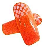 MHSHKS Espinilleras De Fútbol Espinilleras De Protección para Adultos, Jóvenes, Niños, Equipo De Protección Ligero, Espinilleras De Fútbol para Niños, Niños, Niñas (Color : Orange)