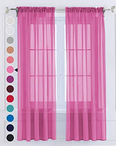 cortina fucsia de la marca Yancorp