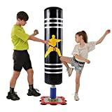 Punching Bag with Stand 47 Inch Punching Bag for Kids Heavy Bag Stand with Suction Steel Base Free Standing Boxing Bag Youth Boxing Bag for Kids
