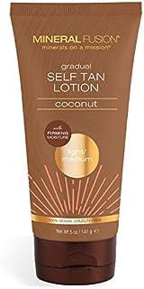 MINERAL FUSION Gradual Self Tan Lotion Light Medium Coconut, 5 Ounce