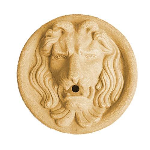 LUCKFY Löwenkopf Gartenbrunnen - Zierbrunnen - Faux Taxidermie Tierkopf Wanddekor für Innen- oder Außennutzung
