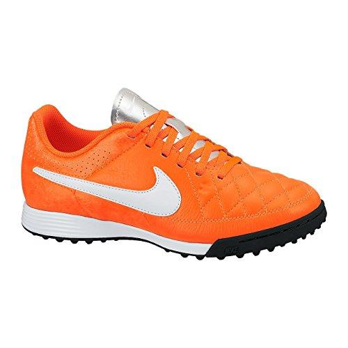 Nike Schuhe Kinder Jr Tiempo Genio Leather TF Total Crimson/White-Mtllc slvr, Größe: 30
