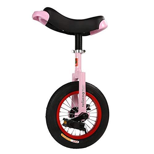 Monociclos Rosa Niños Rueda de 12 Pulgadas con Llanta de Aleación, Niñas Ejercicio de Autoequilibrio Ciclismo, Bicicleta para Niños, Regalos de Cumpleaños (Size : 12'×2.125' Tire)