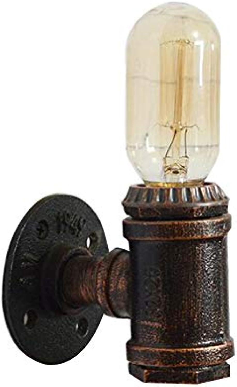 MICOKY Wand Lampe Retro Eisen Rohr Bar Restaurant Haus bar Cafe Borridor Wandleuchte E27 Auge