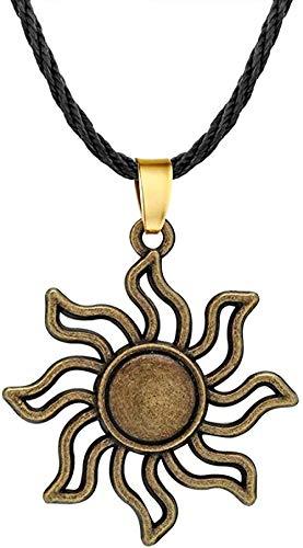 Mxdztu Co.,ltd Collar Sol Collares Cuerda Cadena Geométrica Hombres Colgante Collar Mujeres Joyería