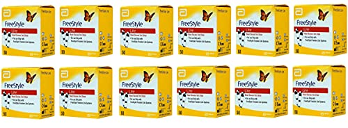FreeStyle Lite Blood Glucose Test Strips - 50 ct, Pack of 12