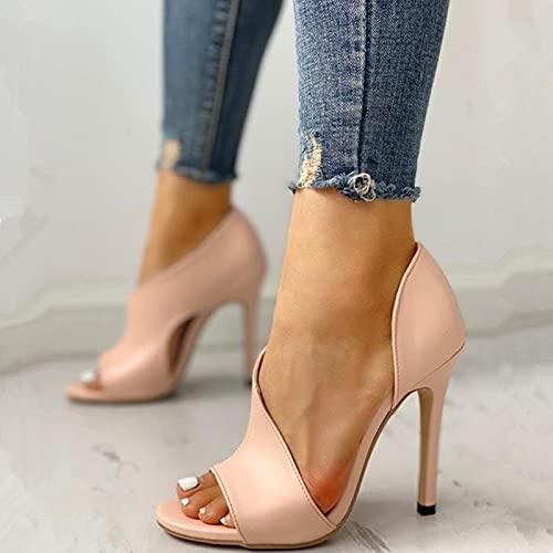 Zapatos de salón Tacones Altos Mujer Fiesta Stiletto Mujer Plata Boda Tacones...