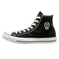 d17f3c21fdc0 Qbeir Sugar Skull Unisex Autumn Sneaker Flat High-Top Sport Walking Canvas  Shoes