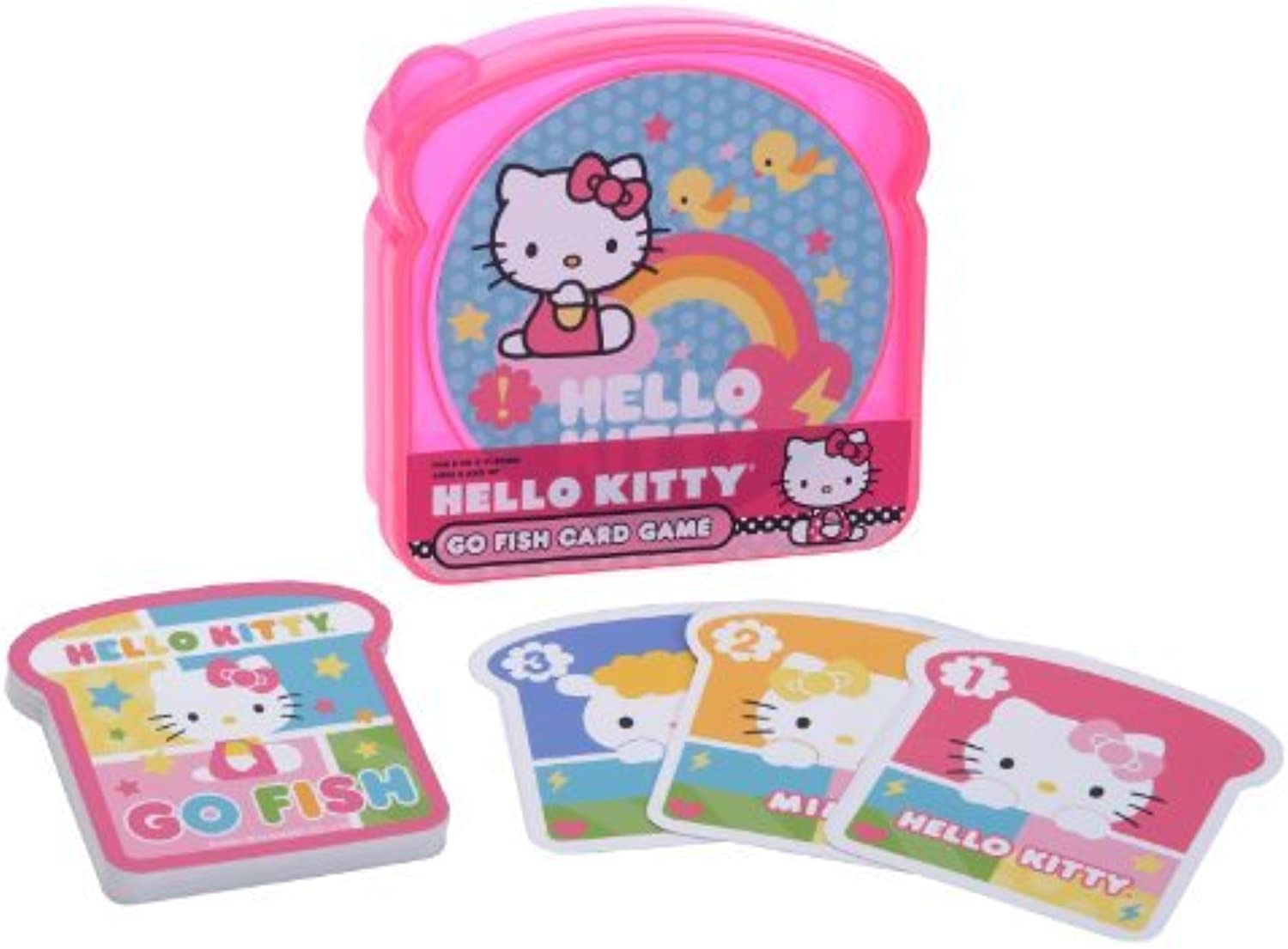 Hello Kitty Go Fish Card Game In Sandwich Container by Pressman Toy
