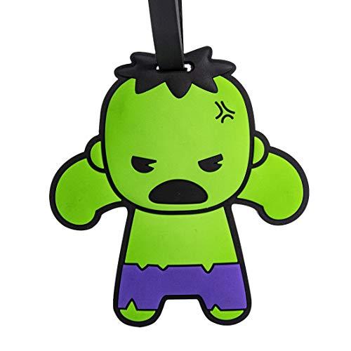 Tag De Mala,Serie Marvel Avengers Hulk Composição Pvc