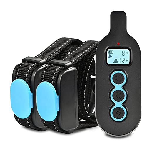 Collar Antiladridos Recargable para Perros Pequeños Medianos y Grandes Pantalla LCD 300 m Entrenamiento Remoto uno a Dos Adiestramiento Sonidos y Vibraciones Audibles Chip Avanzado