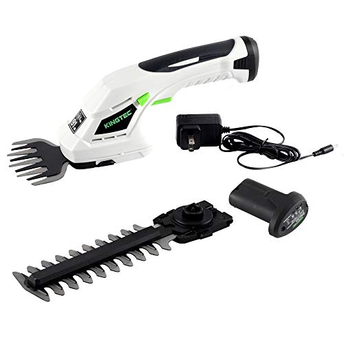 KINGTEC Cordless 2-in-1 Grass Shear and Hedge...