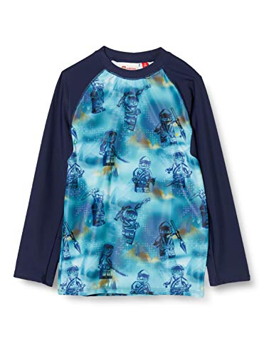 Lego Wear Jungen Lwtobias Ninjago Uv Schwimmshirt Lsf 50 Plus Badehose, Blau (Light Blue 525), (Herstellergröße: 122)