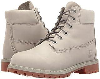 (ティンバーランド)Timberland キッズブーツ?靴 6inches Premium Waterproof Boot (Big Kid) Flint Grey Waterbuck 4.5 Big Kid 22.5cm M [並行輸入品]