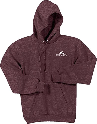 Koloa Classic 2 Side Wave Logo Hoodies-Hooded Sweatshirt-Heather.Maroon-XL