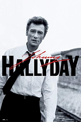 Erik® - Poster Johnny Hallyday - Papier Glacé - 91x61cm