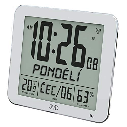 JVD DH9335.1 Relojes de Mesa Modernos Estaciones Meteorológicas Relojes Radiocontrolados Relojes Digitales Relojes de Escritorio
