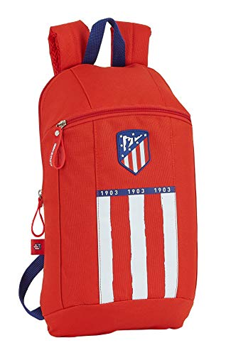 Mini Mochila Safta de Uso Diario de Atlético de Madrid 1ª Equipación 20/21, 220x100x390mm, Rojo/ Blanco/ Azul, 320x160x440 mm
