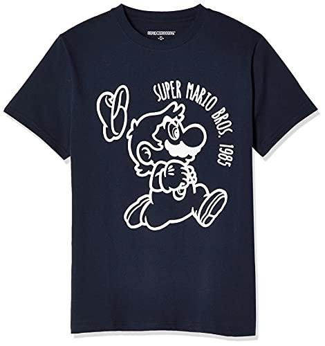 [スーパーマリオ] Tシャツ スーパーマリオブラザーズ マリオダッシュ 半袖 22813510 ネイビー 日本 M (日本サイズM相当)
