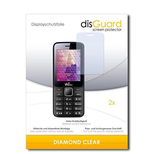 disGuard 2 x Bildschirmschutzfolie Wiko Riff Schutzfolie Folie DiamondClear unsichtbar