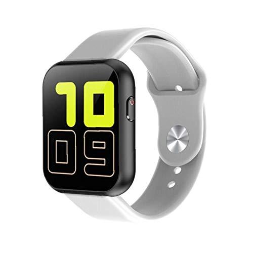 Ohomr Inteligente Reloj Banda Bluetooth SmartWatch de Llamadas de teléfono X6plus Reloj Impermeable del teléfono Completo del compañero de la Pantalla táctil Blanca