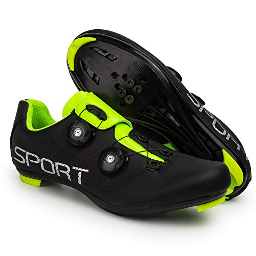 Cycling Shoes Mens Women Road Cycling Shoes - with SPD and Delta Lock Pedal Bike Shoes,Black-47