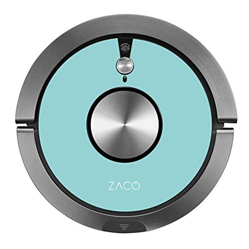 ZACO A9s Robot Aspirador y fregasuelos con WiFi, Alexa, Google, App, Aspiradora y fregadora 2en1 con cámara de navegación, Recipiente XL 600ml, aspiradores silenciosos para pelos de Mascotas, Azul