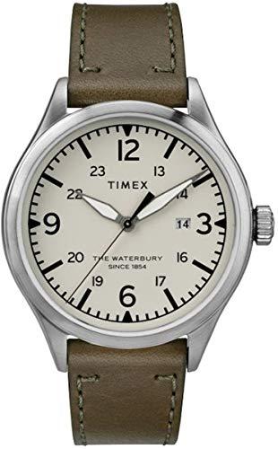 Timex Herren Analog Quarz Uhr mit Leder Armband TW2R71100