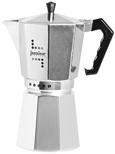 Bialetti 5976 Junior Espressokocher aus Aluminien für 9 Tassen, silber