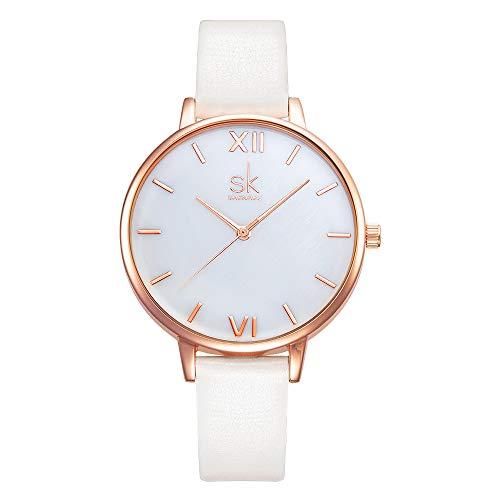 SHENGKE shengke señoras Reloj de Pulsera Creativas Mujeres Relojes Marca Reloj Mujeres Malla Vestido Reloj(K0056L-Rosegold-Shell Dial)