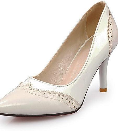 BGYHU GGX Damen Schuhe Schuhe Schuhe Patent Leder Sommer spitz Toe Heels Büro & Karriere Casual Trichterabsatz Split Gemeinsame SchwarzWeiß  Marken online billig verkaufen