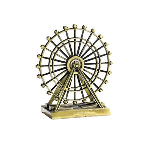 SCDZS Decoración de mesa de hierro antiguo retro giratoria para decoración de mesa de metal (color: A)