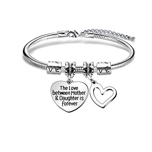 Snake Armbanden moeder dochter verjaardag geschenken liefde hart moeder sieraden moeders dag de liefde tussen moeder en dochter is voor altijd