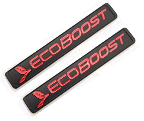 Ecoboost Badge Emblems 3D Nameplate Door Fender Tailgate Stickers Replacement for Ecoboost 2011-2018 F-150 Origianl Size Genuine Parts (Black Red)