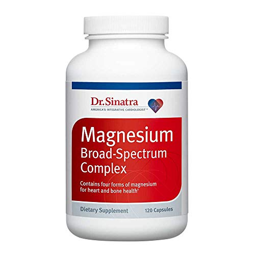 Dr. Sinatra's Magnesium Broad-Spectrum Complex Supplement for Healthy Blood Pressure Levels and Healthy Blood Flow (200 mg, 120 Capsules)