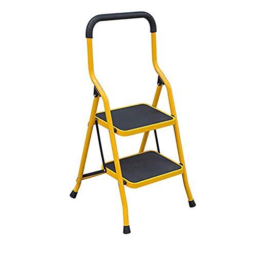 ZXMDP 2/3/4/5 Heavy Duty ladder opvouwbaar Passo keukenkruk kantelbaar niet wegglijden grote ladder voor huis en kantoor, staal 2steps